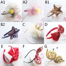 Sweet Style Girls Hair Accessories Angel wing Hairbands Lace flowers hair bands hoop Hair Bows Handmade Crown Headbands ornament(China)