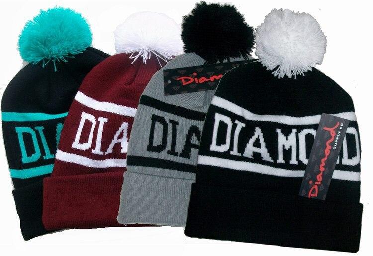 Diamond Supply Co Beanie foreign trade knitted hat womens Winter Hat CapÎäåæäà è àêñåññóàðû<br><br><br>Aliexpress