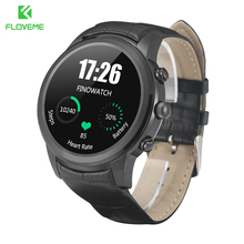 FLOVEME X5 Dual Core 4G Smart Watch Waterproof Smartwatch Passometer Heart Rate Monitor For iPhone Samsung Android Leather Clock