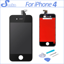 SANKA Replacement For iPhone 4 4G A1332 LCD Display Digitizer Front Glass Touch Screen Assembly Ecran Pantalla LCD Black & Tools