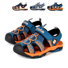 Brand summer boys sandals children's shoes casual kids Baotou children's sandal students sports strong wearable high quality