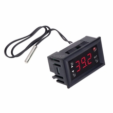 Buy W1218 Digital Thermostat DC12V Temperature Controller Incubator w/ Probe Red G25 Drop ship for $2.73 in AliExpress store