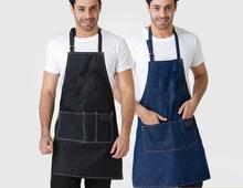 2017 Hot Sale Denim Aprons Cowboy Antifouling Uniform Unisex Aprons for Woman Men Kitchen Chef Cooking Delantal Schort(China)