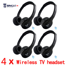 Wireless Connection TV Transmitter Headphone with FM Radio Casque headset Music audio Transmitter big Earphone For TV Computer