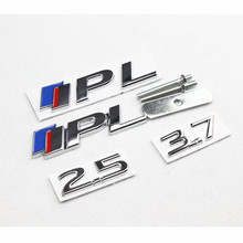 2.5 3.7 Blue Red S IPL Emblem Chrome Metal Refitting Car Styling Grille Trunk Fender Discharging Sticker for Infiniti Q50 Q50L(China)