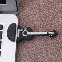 Novelty Musical Guitar Shape Silicone Portable Mini USB Flash Drive Pen Stick Plug and Play Flash Memory Document Storage USB(China)