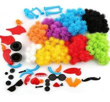 400pcs/8 colors Kid Educational Assembling 3D Puzzle Toys DIY Puff Ball Squeezed Variety Shape Creative Handmade Toy Puzzles For(China)