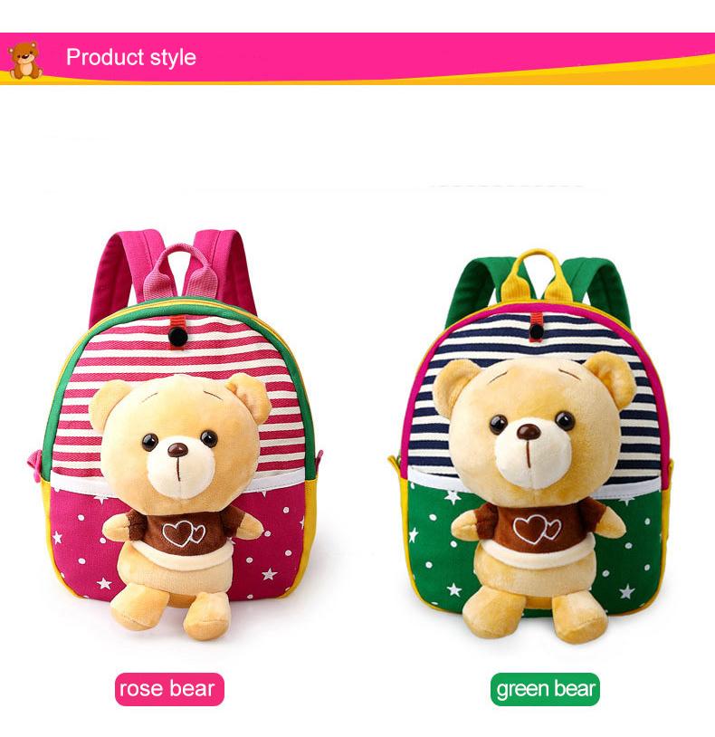 Korean Style Children Toddler Cartoon Stuffed Plush Backpacks baby girls boys cute toys schoolbag backpack (3)