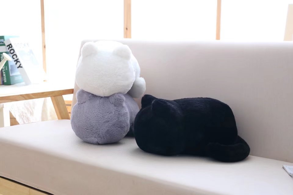 1pcs Cute Soft Cat Stuffed Pillow Lovely Kawaii Animal Plush Shadow Cat Plush Toy For Kids Gift Home Decoration (7)