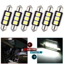 50pcs/lot 36mm 39mm c5w 3 smd 5050 Led canbus error free Car Interior Festoon Dome Auto Over Head Reading Head Lamp white 12V(China)