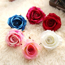 5Pcs/Lot Artificial Flowers Roses Petal Real Touch Silk Flower Fake Rose For Home Wedding Decoration Diy Flowers Scrapbooking(China)