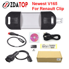 ZOLIZDA Top-Rated professional Multilanguage Auto Diagnostic Interface Renault Can Clip V165 Latest Version DHL Free Shipping
