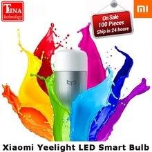 100% Original Xiaomi Mijia Yeelight LED Smart Bulb (Color) E27 9W 600 Lumens Blue II Mi Light Smart Phone WiFi Remote Control