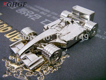 FGHGF full capacity cool Metal F1 race car USB Flash Drive 16GB 32GB Mini four-wheel drive U Disk Pen drive Newest(China)
