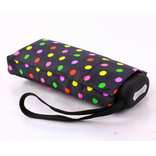 5 Folding UV Protection Colorful Dots Umbrella Rain Women Men Parasol 195g Super Light Small Pockets Manual Umbrella Paraguas