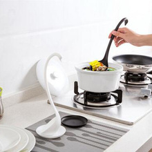 Fashion Innovation Kitchen Utensils Creative Swan Soup Scoop With Tray / Long Handle & Stand Stable Kitchen Cooking Accessories