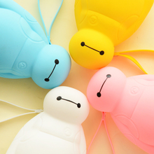 Novelty Cute Silicone Pencil Case Boys Girls Multifunction pen bag Korean Pencil Box 4colors Stationery Store School supplies