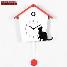 Cuckoo Clock The Whole Point Timekeeping Wall Clock Cartoon For children Wooden Wall Quartz Desktop Clock Fashion Art Home Decor(China)