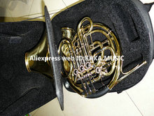 Wholesale Newest Professional CTE 4 key Double French Horn withcase Gold Brass Free Shipping