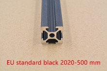 2020 aluminum extrusion profile european standard black length 500mm aluminum profile workbench 1pcs