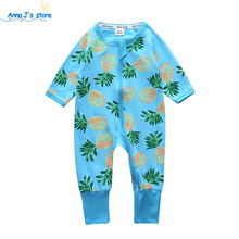 Baby romper long-sleeved cotton Similar Baby Boy Girl Clothing Children's Clothing Clothing pineapple Set Body Suits PPY-152