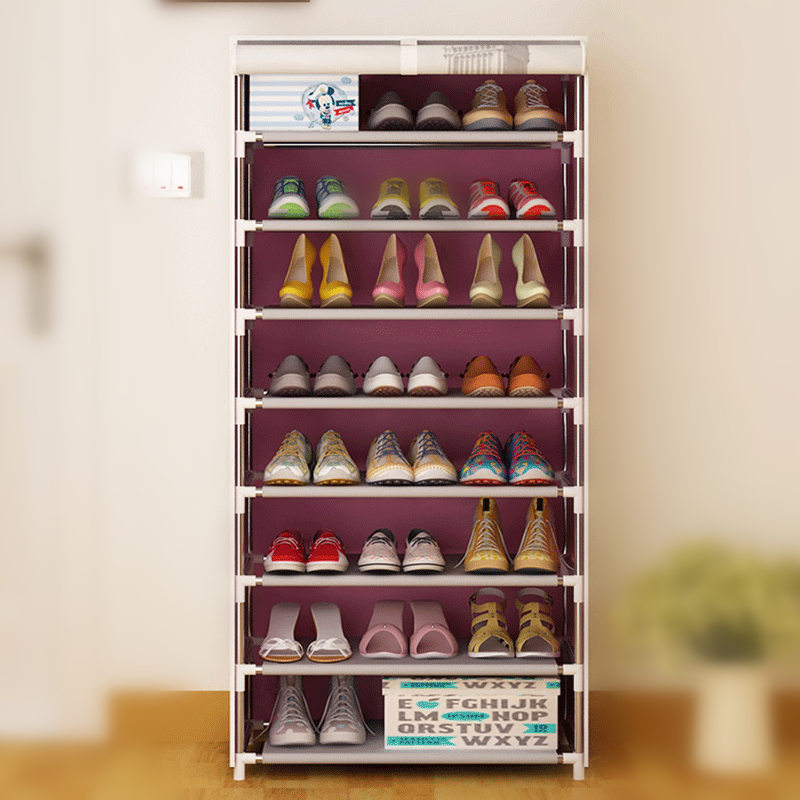 Retro Pattern DIY Non-Woven 8 Homestyle Cabinet Shoes Racks Storage Large Capacity Home Furniture<br>