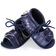 Baby Boy Sandals Tassel Loafers Fringe-sandal Summer Leisure Shoes for Kids Flat Newborn Infant Toddler Pu Flip Flop New Fashion