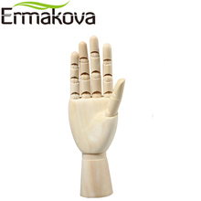 ERMAKOVA 10 Inches Tall Wooden Hand Drawing Sketch Mannequin Model Wooden Mannequin Hand Movable Limbs Human Artist Model(China)