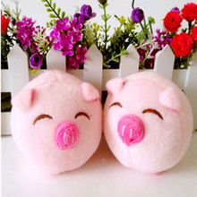 Cartoon bouquet of plush pig doll wedding present children toy phone key pendant mini toys