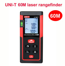 Buy UNI-T UT391+ laser distance meter gauge 60M laser rangefinder digital level bubble laser Range Finder Distance Area volume test for $33.54 in AliExpress store