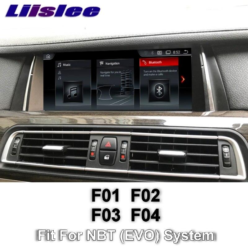 For BMW 7 F03 F04 F01 F02 NBT 2013~2015 LiisLee Multimedia GPS Audio Hi-Fi Radio Stereo Original Style For NBT Navigation NAVI 11