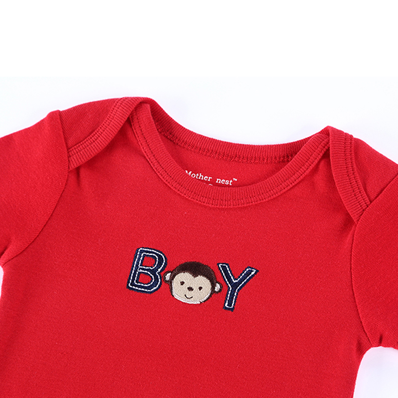 2016 Newly 25 Styles Baby Clothing 0-12 M Romper Mother Nest Red Color Monkey Embroidered Next Boy&Girl Bebes Newborn Clothes