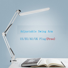 US LED Long Swing Arm Desk Lamp W Clamp Metal Architect Adjustable light reading(China)