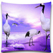 A group of white purple space 2D print creative Pillow case Square cotton polyester cushion cover 5 size 9 style
