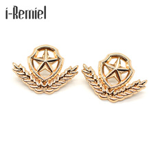 2017 Sale Brooches Broche Golden Wheat Small Brooch Five - Pointed Star Collar Pin And Shirts Suit Couple Accessories Deduction