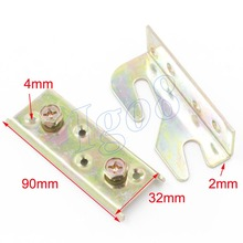 90mm x 32mm Brass Tone Screw Mounted Furniture Bed Hinge Connector Fitting 2PCS(China)