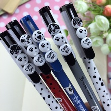 Cute Spotted dog design 0.5mm needle style gel pen.student tool school office use office school supplies.good quality.novelty.re(China)