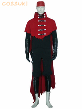 Newest High Quality Final Fantasy VII 7 Vincent Valentine Uniform Cosplay Costume ,Perfect Custom For You !