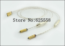 2M Free shipping Crystal Cable Dream line RCA Audio interconnects with WBT-0102Ag without origianl box