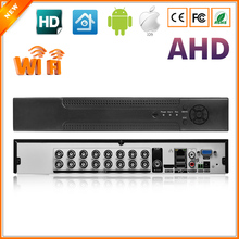 Home DVR Recorder AHD 720P 16CH AHDM DVR 16 Channel 2 SATA HDD Port 3G Wifi AHD DVR 16CH Hybrid NVR DVR Recorder ONVIF 16CH(China)