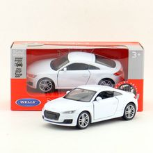 Welly DieCast Metal Model/1:36 Scale/2010 Audi TT Coupe Toy Car/Pull Back Educational Collection/for children's gift/Collection(China)
