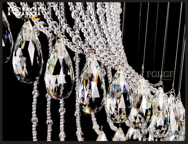 Modern Crystal Chandelier Large Size Crystal Chandeliers Spiral Lamp Long Stair Lustres Lighting Fixture for Foyer Hotel Villa (5)