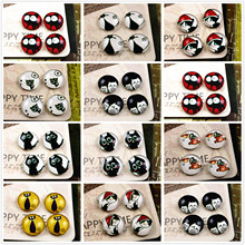 New Fashion 20pcs 12mm Handmade Photo Glass Cabochons (lovely Cat series)(China)