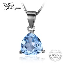JewelryPalace 2.2ct Natural Sky Blue Topaz 100% Real 925 Sterling Silver Pendant For Women Fashion Hot Sale Bijouterie On Sale(China)