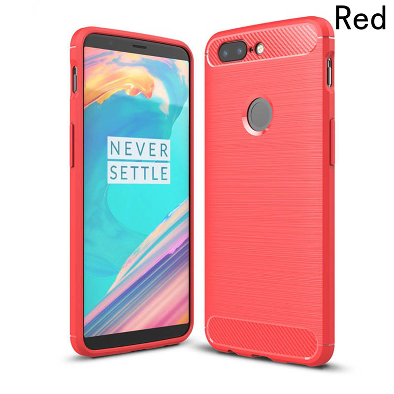 FancyQbue High-Quality TPU Phone Case Fashion Soft Silicone Case For One Plus 5T Protective Cover 4 Colors