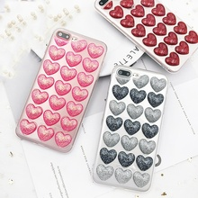 Buy iPhone 8 Plus Newest Glitter Powder Love Heart Case Clear Transparent Soft Back Cover iPhone 6 6S 7 8 Plus iPhone X for $2.99 in AliExpress store