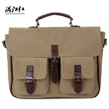 Buy Men Messenger Bags Vintage Canvas Briefcase Shoulder Bag Mens Canvas Handbag Laptop Office Briefcase Rucksack Tote for $22.13 in AliExpress store