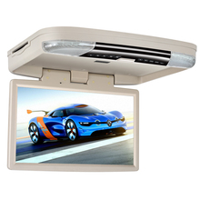 15.6'' Car Bus Flip Down HD Overhead Screen Ceiling Roof Mount Monitor Multimedia DVD Player 1080P FM IR USB SD HDMI MP5 Game