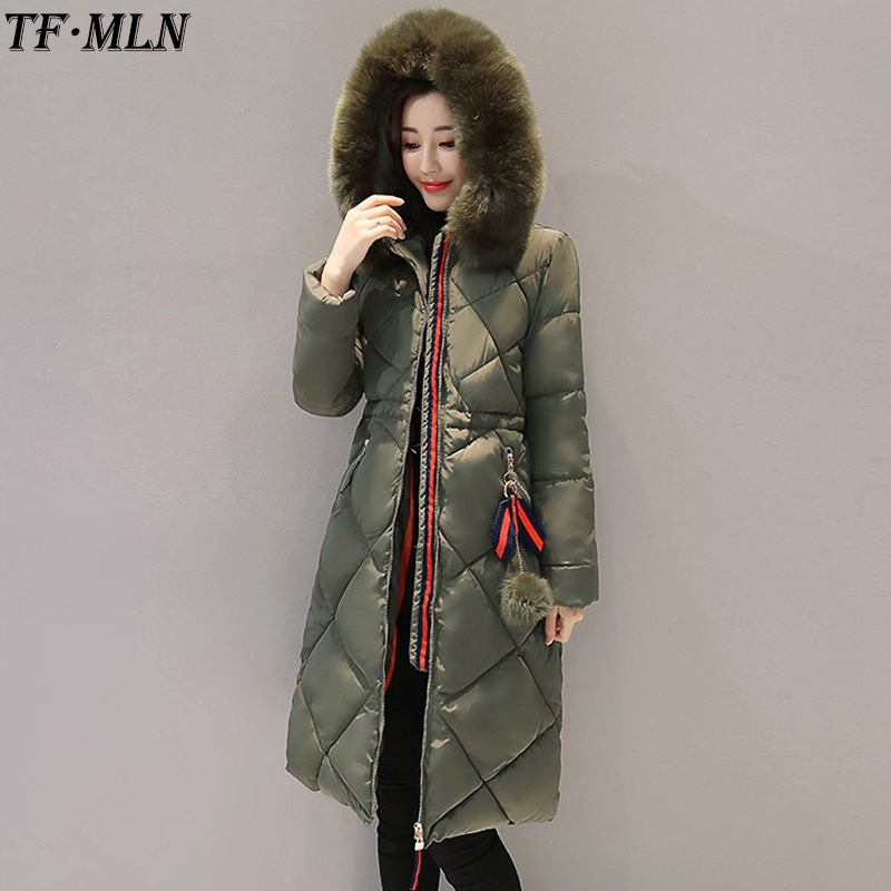 Winter Woman Jacket Warm Thick Parkas 2017 Fashion Large Real Fur Collar Coat High Quality Army Green Jacket Hooded Long CoatsÎäåæäà è àêñåññóàðû<br><br>