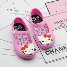 High Quality 2017 Mini Melisa cute Girls Hello Kitty Sandals carter Fish Head jelly Shoes children Princes Shoes kids Soft Shoes